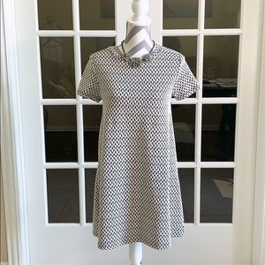 Zara black and white patterned swing dress